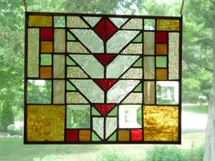 Prairie Style Stained Glass Panel