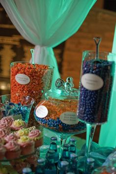 Orange and blue candy bar amazing for fullerton graduation party CSUF
