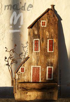 Carretilla de madera tallada jardin antig edades for Manualidades con madera vieja