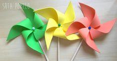 DIY con los niños: molinillos de viento con goma eva