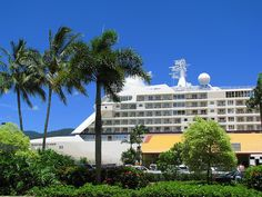 Regent 'Seven Seas Voyager' moored in Cairns http://www.amberstravel.com