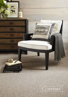 Accentuate wooden walls with a cosy wool rich carpet such as Cormar's Living Naturals shown in colour Cookie. With three tactile textures to choose from – simple level pinstripe, classic rib and popular basket weave. Living Naturals is manufactured from 50% wool and retails at around £22 per sq m.