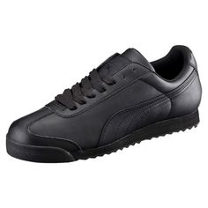 Puma - Men's Roma Classic Low Leather Sneaker - Black
