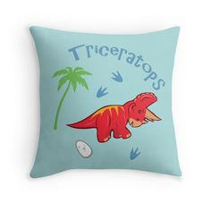 Cute Triceratops Dinosaur Pillows