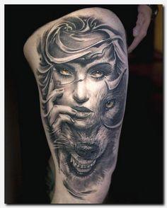 #wolftattoo #tattoo dragon tattoo on thigh, picture tattoos, vintage t shirts for men, freaky tiki tattoo, egyptian tattoos for guys, lotus tattoo wrist, meaningful tattoo ideas for guys, scorpion and lion tattoos, symbole tattoo, clocks tattoo, amazing color tattoos, small tattoo patterns, mom tribute tattoo designs, tree of life tattoo wrist, tattoo search, albanian eagle tattoo designs