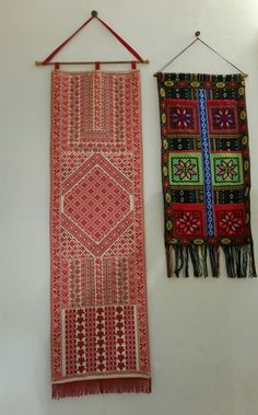 Palestinian embroidery. Wall hanging