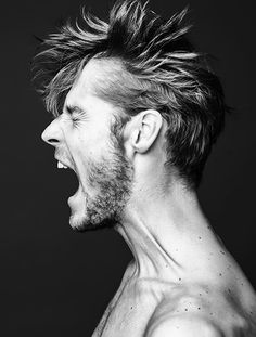 Mikus Lasmanis by Errikos Andreou | Homotography, powerful face, expression, beard, male, scream, anger, intense, strong, portrait, photo b/w.