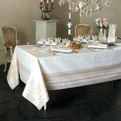 Nappe collection automne hiver 2015 par Garnier-Thiebaut - Modèle : Galeries des glaces - Nappe en coton anti-tache - Coloris : blanc