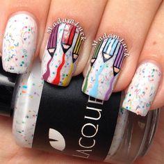 Colored Pencil Nails love this creative idea Nail Art Diy, Diy Nails, Cute Nails, Pretty Nails, School Nail Art, Back To School Nails, Fabulous Nails, Gorgeous Nails, Teacher Nail Art