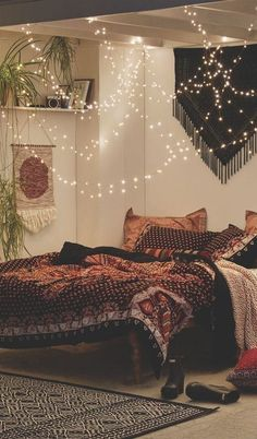 cute bedroom boho design idea