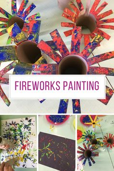 If you're looking for of July craft ideas for kids try this fireworks painting activity. Perfect for toddlers and the older kids will have fun too. Patriotic Crafts, July Crafts, Summer Crafts, 4th Of July Celebration, Fourth Of July, Tim Holtz, Toddler Crafts, Crafts For Kids, Infant Crafts