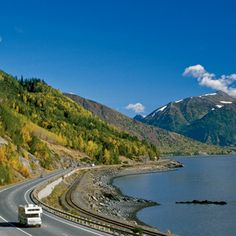 US Road Trip: Alaskas Highway 1 | Embark on an adventure along the 127-mile stretch between Anchorage and Seward on Alaska's Highway 1. This trip is ideal for true nature lovers. You'll drive past picture perfect views like alpine meadows with hanging glaciers in the background. (#roadtrip)
