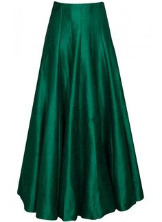Buy SVA Emerald green pleated lehenga by Sonam & Paras Modi online in India at best price.Featuring a emerald green pleated lehenga in raw silk. Indian Attire, Indian Wear, Indian Dresses, Indian Outfits, Desi Clothes, Indian Designer Wear, Blouse Designs, Indian Fashion, Designer Dresses