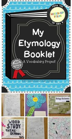 My Etymology Booklet -- A vocabulary mini-research project -- Students collect words related to a theme of their choice & create a word origin display -- from Mixed-Up Files