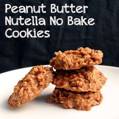 The Stay At Home Chef: Peanut Butter & Nutella No Bake Cookies