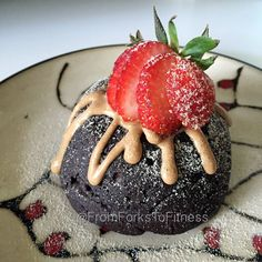 21 Day Fix: Double Chocolate Peanut Butter Lava Cake | From Forks to Fitness