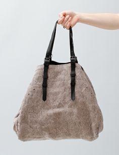 Jerome Dreyfuss Pat Tote Bag- Grey/Black
