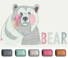 The Artist's Palette :: Illustration Friday. Art by Pink Paper Circus.