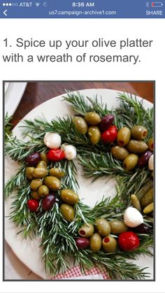 "I don't like olives, but most people in my world do... so I could totally see me making this for ""them"" during holiday season.  It's super-pretty!"