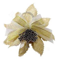 Portachiavi albero della vita soggetto 50 anni confezionato   Bomboniere Nozze Oro