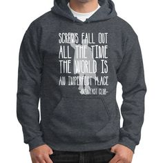 SCREWS FALL OUT THE TIME Gildan Hoodie (on man)