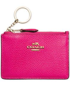 COACH MINI SKINNY ID IN POLISHED PEBBLE LEATHER - Handbags & Accessories - Macy's