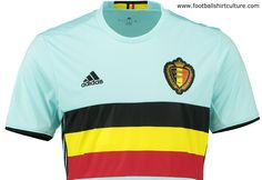5f88ab911 Belgium Euro 2016 Adidas Away Kit Soccer Shirts