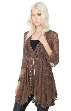 7e3dead9215 ANGELINA Stretch Lace Bell Sleeve Tunic Top Stretch Lace