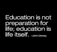 Going to school is just the beginning.  There is still so much to learn after that.