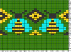 Tricksy Knitter Charts: bees by Olivia