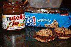 nutella & cookies,  yum <3