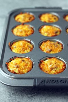 These Sausage Egg and Cheese Hash Brown Cups are all your favorite breakfast foods in a portion controlled cup! Easy and delicious for just 123 calories or 3 Weight Watchers points. www.emilybites.com