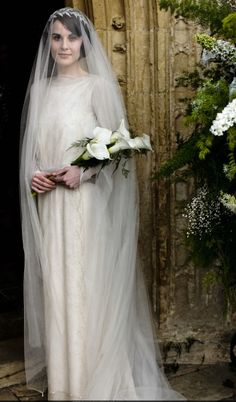 Lady Mary's Wedding on Downton Abbey, Season 3.  Stunning.  The scene when she walks down the long staircase...wow.