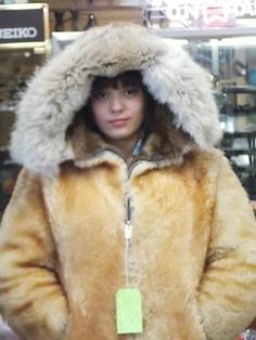 I just picked the same 1970's Alaskan parka up at Exile in Kensington yesterday, but mine is black!  It is SO warm!  Wow! <3