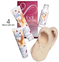 Avon: Foot Works Berry Vanilla Collection. One of my favorites for dreamy feet. Easily ships anywhere and orders of $30 or more ship FREE!! Check her out.