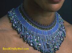 My Iris Garden - Bette Kelley  http://beadkitsbymail.com/egyptian-broad-collars/