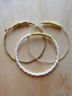 Set of 3 Eco Friendly Guitar string bangles by ChapterIIICreations, $32.00