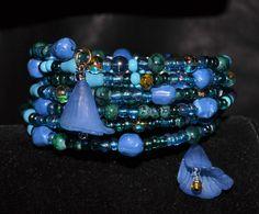 Beautiful Iridescent  blue  BRACELET....beautiful by LindaLennea