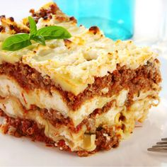 Lasagna Supreme - A traditional style lasagna layered with a beef filling, ricotta, mozzarella, and parmesan cheeses. Lasagne Roll Ups, Italian Recipes, Crockpot Recipes, Cooking Recipes, Italian Foods, Hamburger Recipes, Italian Dishes, Cooking Ideas, Mozzarella