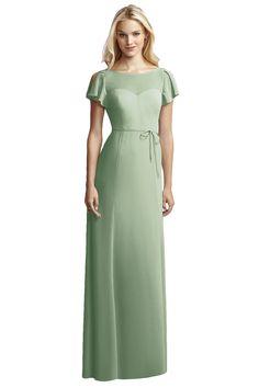 Jenny Yoo For Dessy Jy518 Bridesmaid Dress in Sage Green in Chiffon