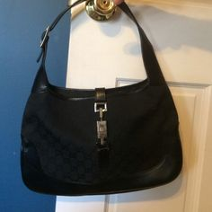 Gucci bag Black vintage leather Gucci bag with dark leather trim Gucci Accessories