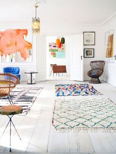 White space + colorful pieces | Wonderful visual stimulation.  Love it!