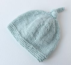 Simple and cute - this baby hat is ideal for a beginner knitter.