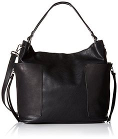Steve Madden Bkoltt Shoulder Hobo Bag, Black, One Size >>> Want to know more, click on the image.