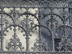 This is Victorian era ironwork. I thought it was interesting how symmetrical the art was for each piece