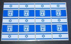Judaica Atzmaut Menorah Flag 200 Stickers Kids Teaching Aid Israel Educational  #CollectingTrends