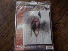 """Cross stitch kit American Indian """"Portrait of Wisdom"""" by MaddisonsRainbow on Etsy American Indians, Native American, Cross Stitch Kits, Wisdom, Portrait, Canvas, Count, Etsy, Tela"""
