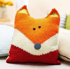 Fox Pillow - create using wool sweaters.