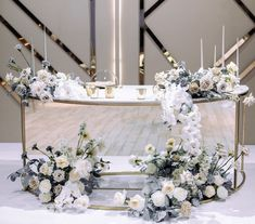 Head Table Wedding, Bridal Table, Wedding Stage Design, Minimal Wedding, Sweetheart Table, Time To Celebrate, Decoration Table, Blue Wedding, Event Decor