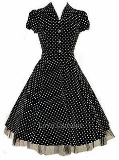 Sidecca Retro 1950s Polka Dot Smock Swing Dress At Amazon